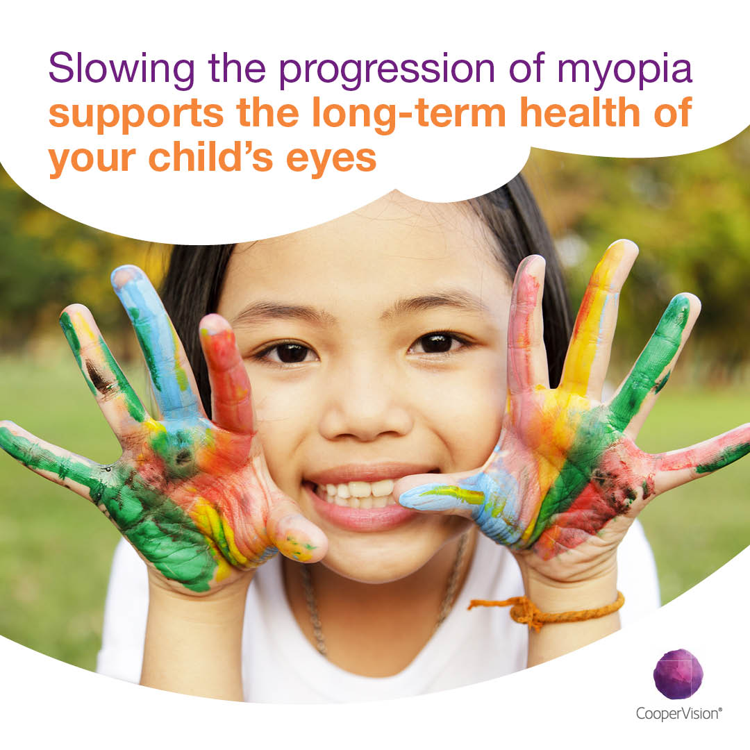 Advert slwing the progression of myopia